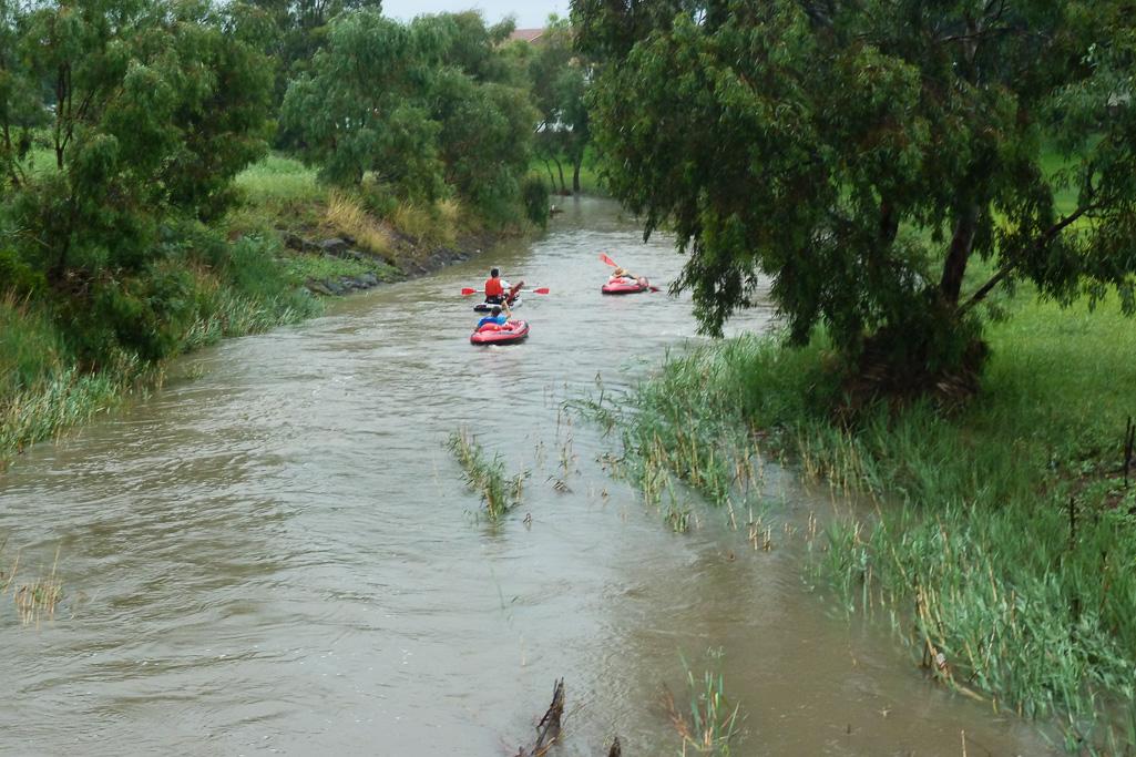 kayak-floods-koroit-creek-2011