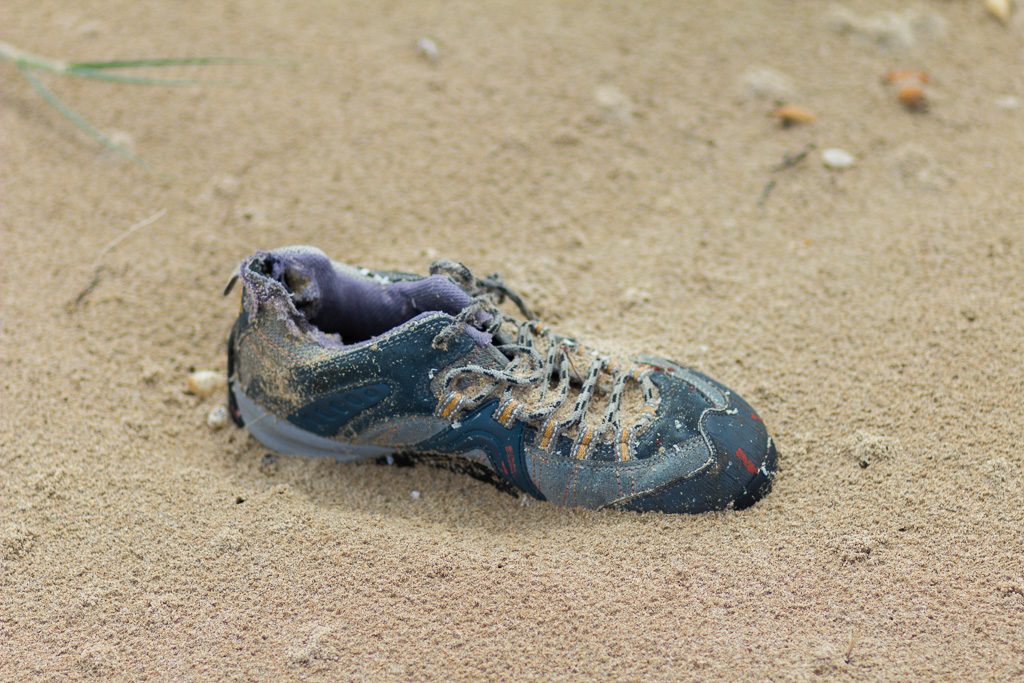 shoe-on-beach