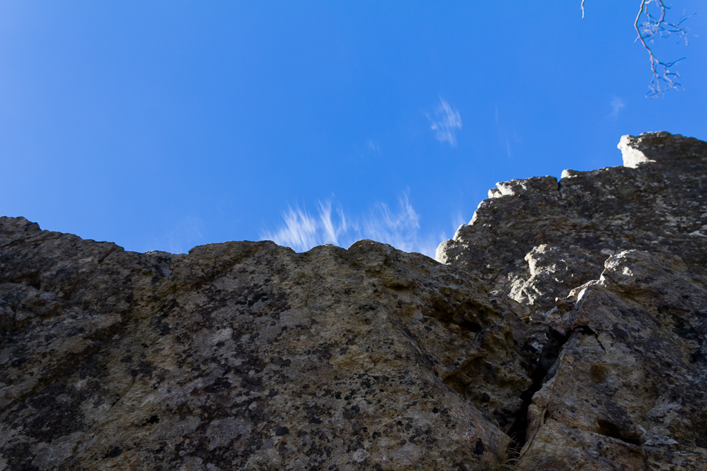 rock-wall-blue-sky