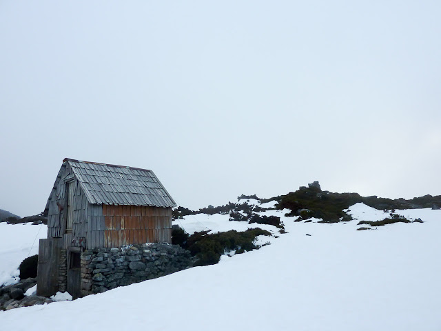 kitchen-hut-snow-overland-track