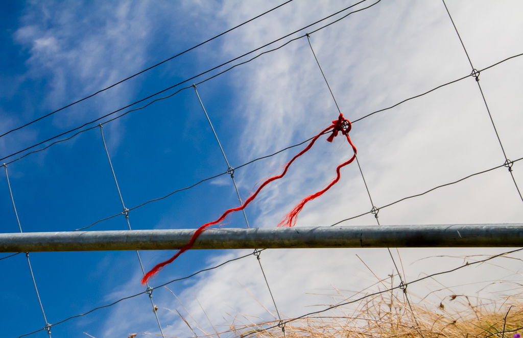 red-string-on-fence