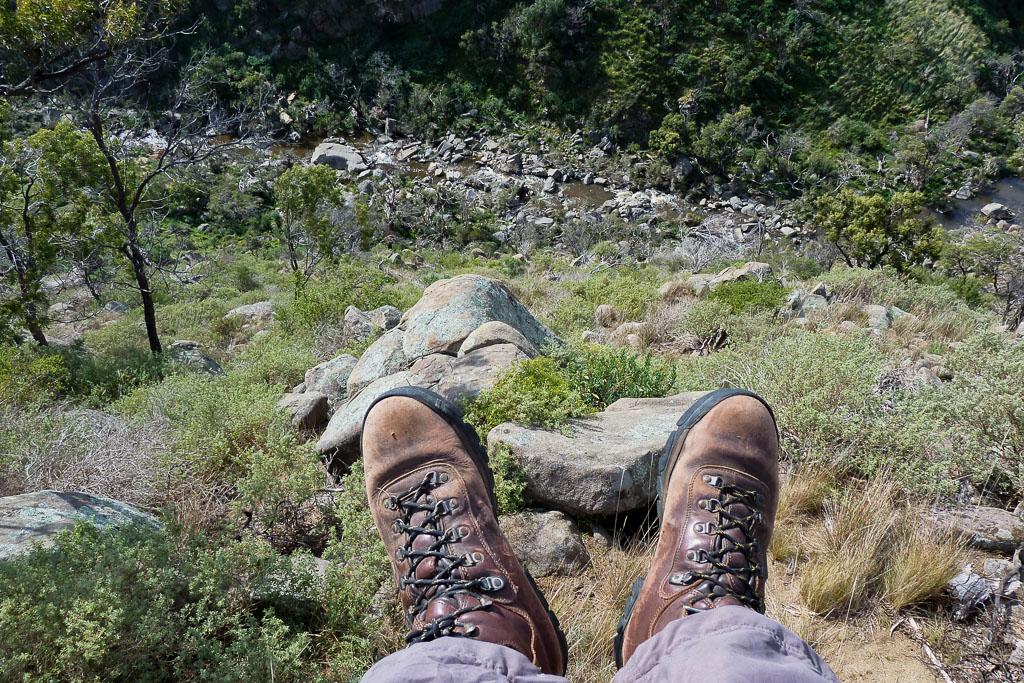 sitting-on-rock-granites-werribee-gorge