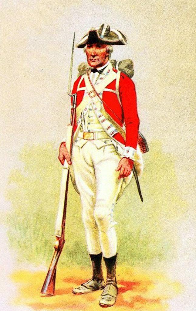English soldier-Revolutionary War