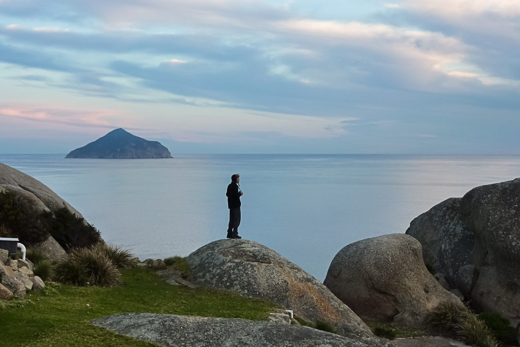standing-on-rocks-wilsons-promontory-lighthouse