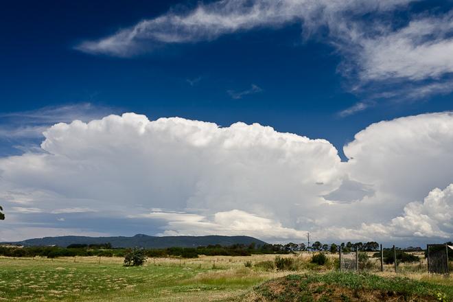 Cumulonimbus clouds over Camels Hump Macedon Ranges