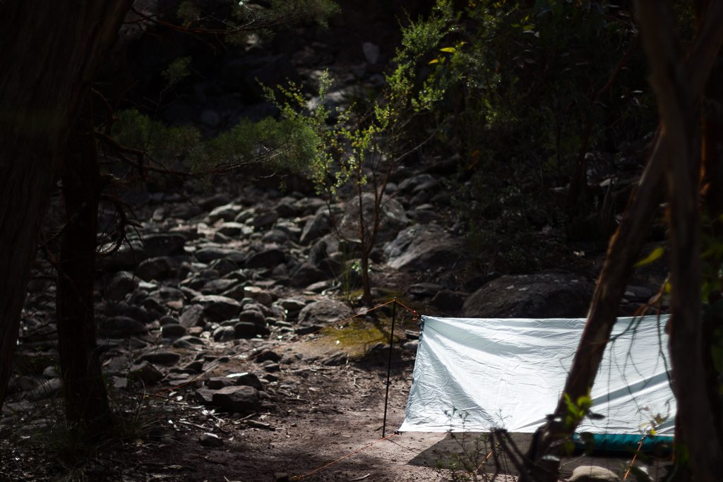 tarp-set-up-hiking-grampians