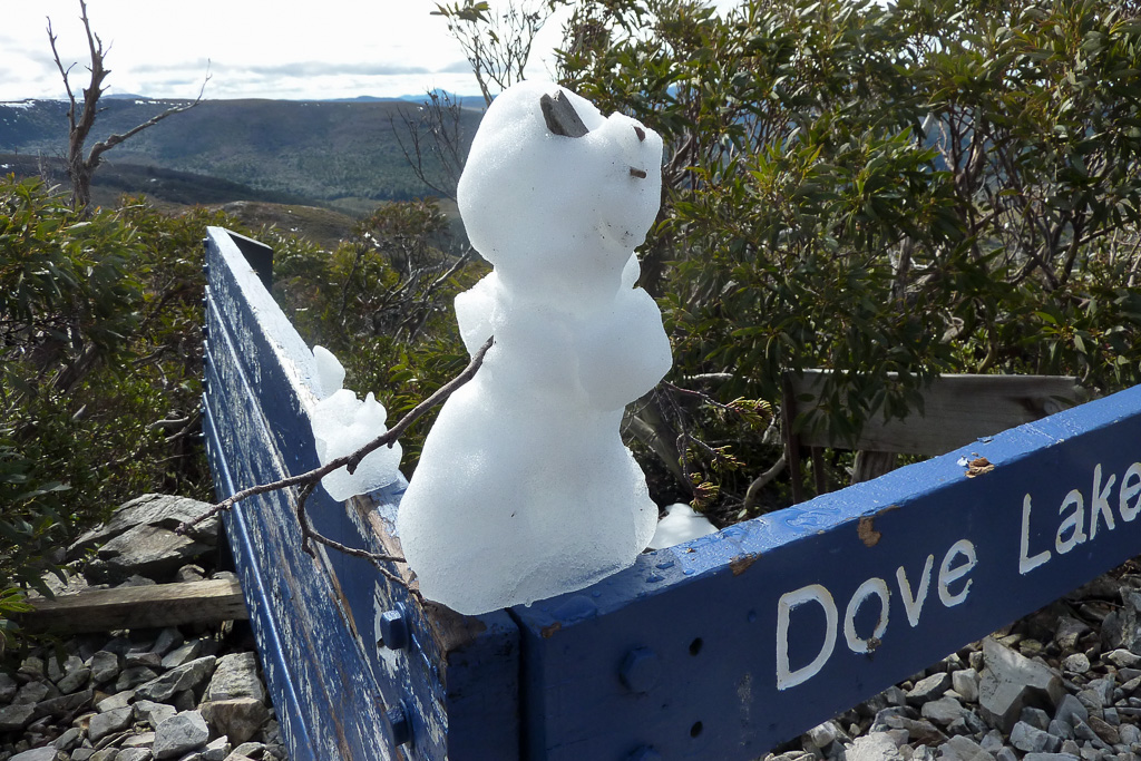 snow-man-marions-lookout-tasmania