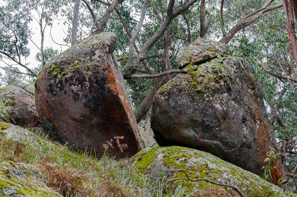 split-granite-boulder-mount-langi-ghiran