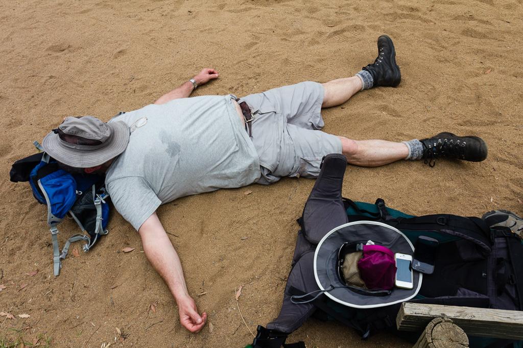 lying-on-needles-beach-werribee-gorge