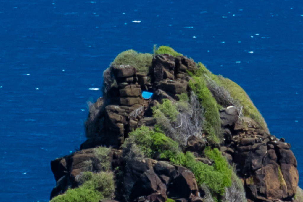 blue-object-on-pyramid-rock-phillip-island
