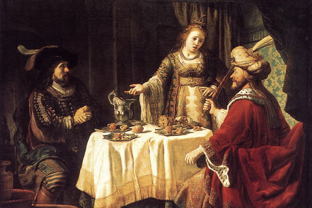 Jan Victors - The Banquet of Esther (ca. 1640)