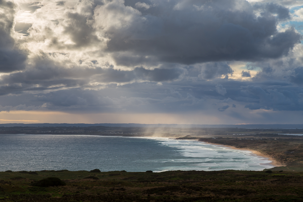 clouds-sun-over-cape-woolamai-beach