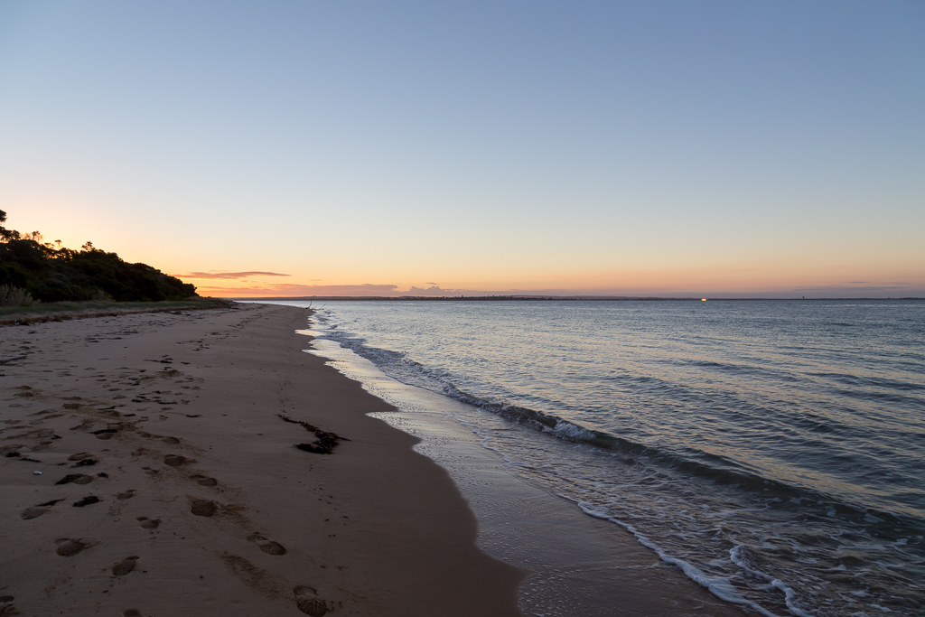 beach-at-sunset-beach-point-nepean