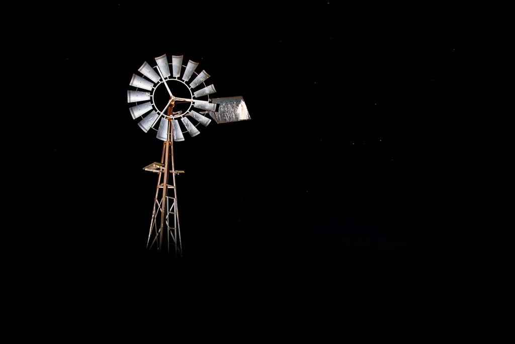 light-on-windmill-night