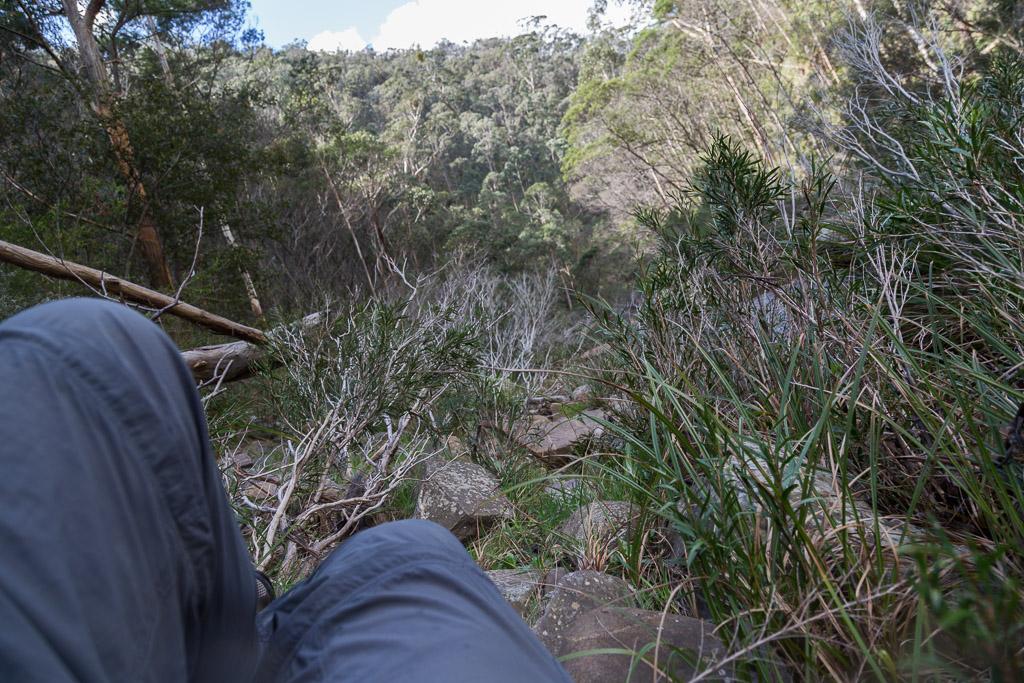 lying-on-ground-lerderderg-gorge