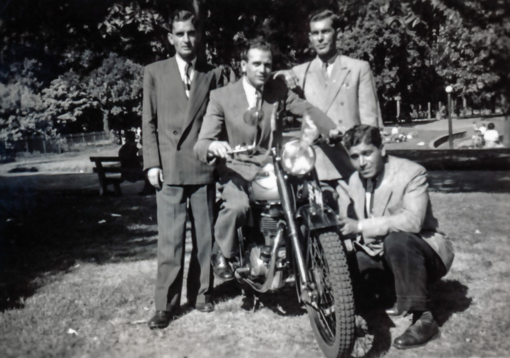 'Motorbike. Melbourne 1948'