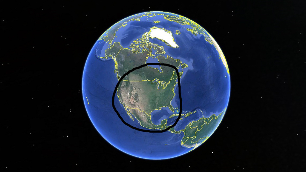 circle-around-google-earth-map