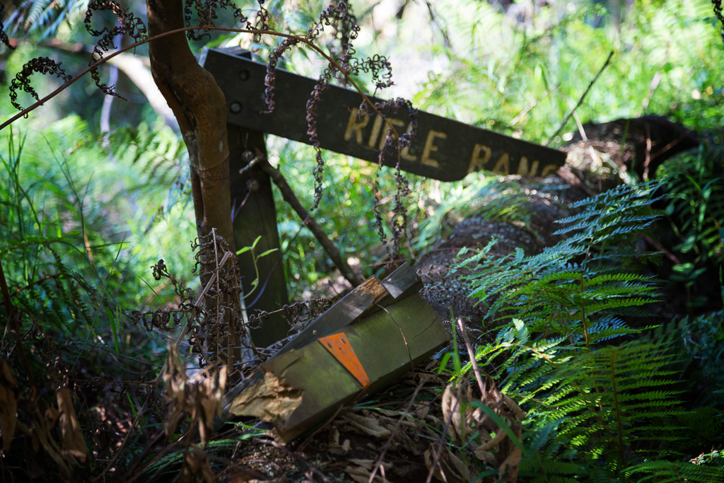 broken-sign-rifle-range-gully-track