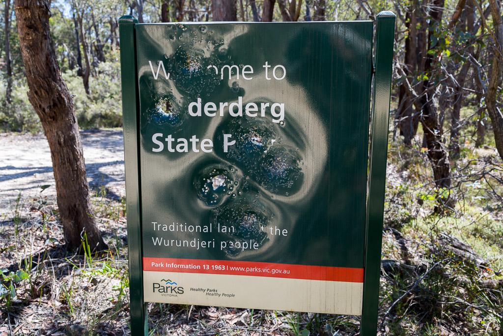 lerderderg-state-park-sign-bullet-holes