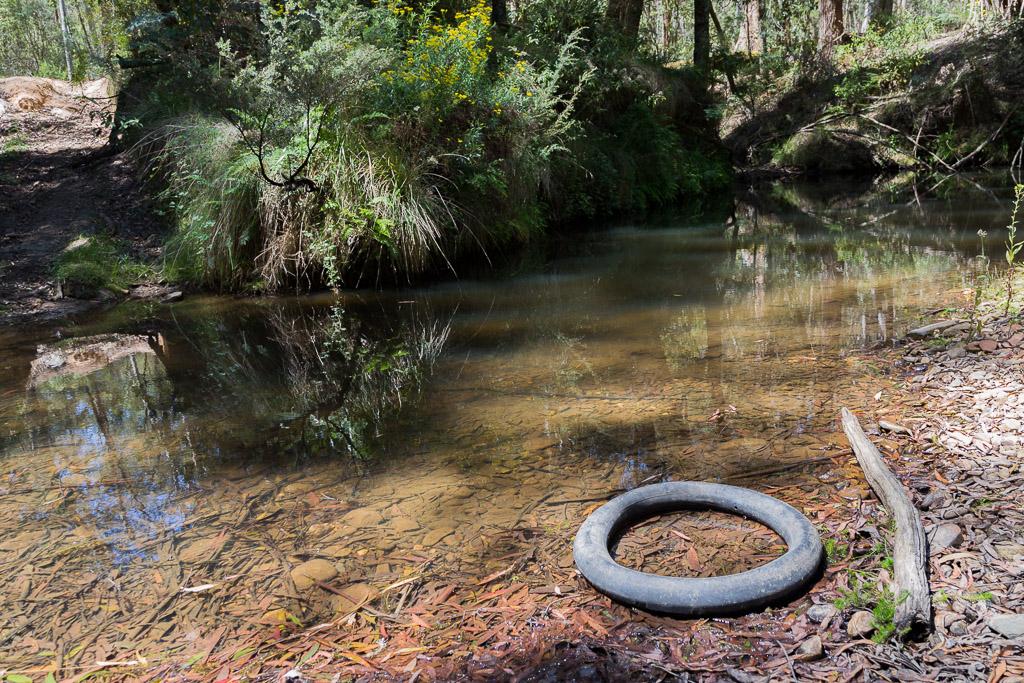 tyre-inner-tube-sardine-creek-lerderderg-state-park