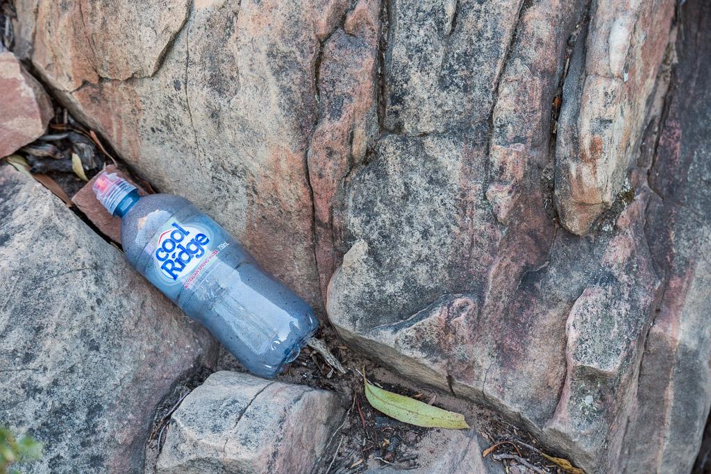 discarded-bottle-boronia-peak-grampians