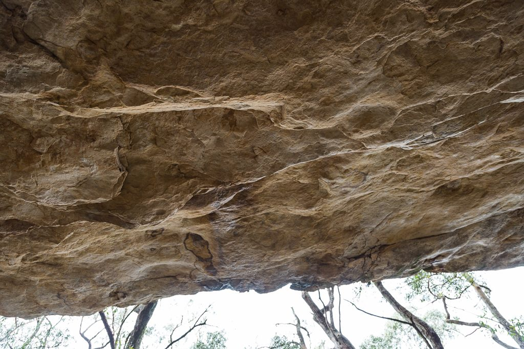 rock-overhang-fortress-hiker-camp-grampians