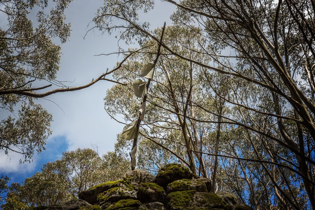 flags-atop-summit-cairn-mt-juliet-yarra-ranges-national-park