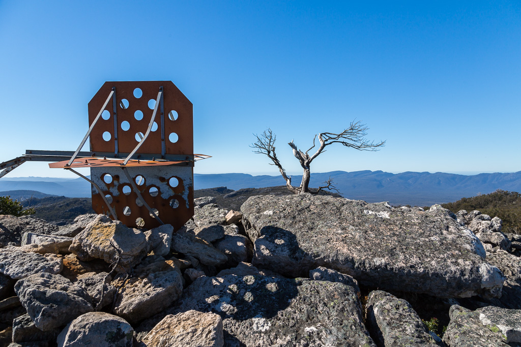 fallen_trig_point_mount_thackeray_grampians